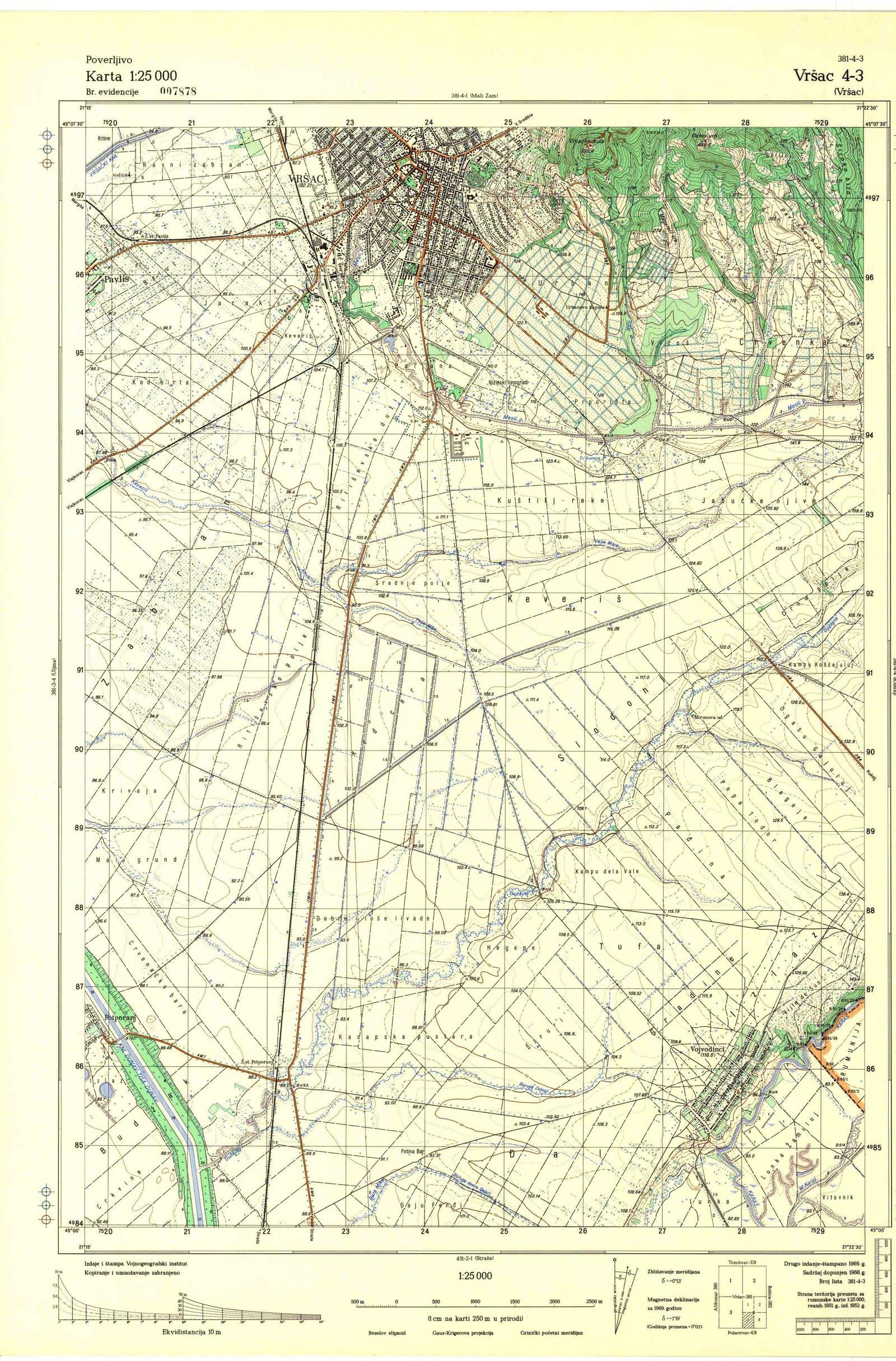 Topografske Karte Srbije Jna Vrsac